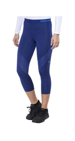 Nike Pro Hypercool 3/4 Pant Women deep royal blue/lt photo blue